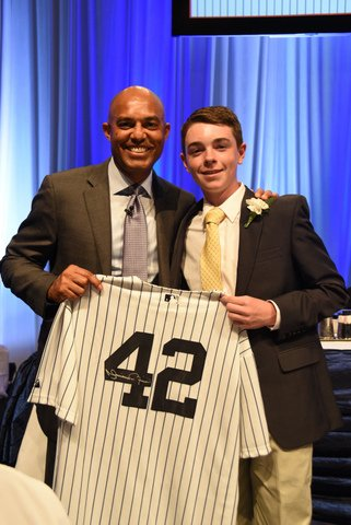 Mariano Rivera and Honorary Chair Holden Leibenguth